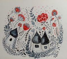Elf's home by kkbfolk art, illustration / where wild flowers grow and elves live