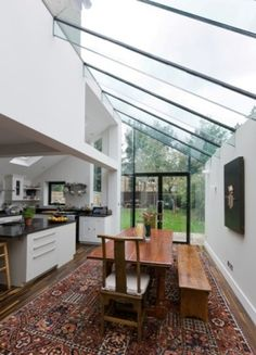 Imagine kitchen window out... Trombé :: Contemporary Modern Conservatories and Conservatory Design London :: Structural Glazing.