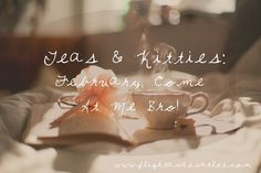 February, I am so ready for you. | Teas & Kitties - February Come At Me Bro | www.flightandscarlet.com