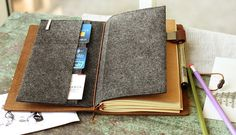 Refillable Leather Journal // Leather Notebook // by PapergeekMY-SR