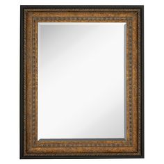 Majestic Mirror Large Rectangular Mirror with Antique Bronze Crackle with Black Trim Frame