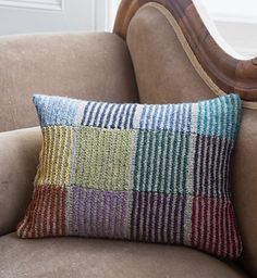 """Slightly rectangular pillow/cushion. To finish you will need a 12""""x 15"""" (30 x 40cm) pillow insert and a 13.5"""" x 17.5"""" (34 x 44cm) rectangle of fabric for backing."""