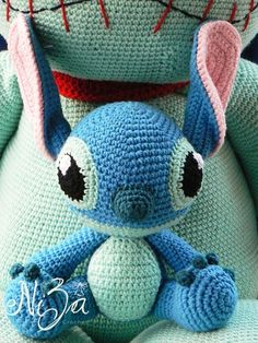 Little Stitch with Big Scrump ------ Find more item at https://www.facebook.com/nizafreehandcrochet -----