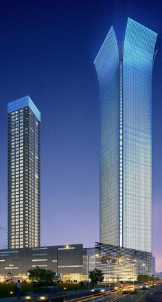 Wenzhou Zhixin Plaza, Wenzhou, China by John Portman & Associates Architects :: 53 floors, height 255m