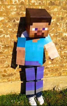 Minecraft Costume Full body costume Kit Steve by LemurApps