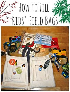 Kids love to have a well-stocked field bag for nature walks! Here are some ideas for what to include to increas the fun.