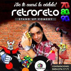 Organiza tu fiesta con el Show RetroReto #StandUpComedy Canta y ríe con Josben Torres mientras hacen un recorrido por los 70s, 80s y 90s. ¡Se te caerá la cédula con RetroReto! #Cumpleaños #Divorcios #FiestasPrivadas #EventosCorporativos #LocalesNocturnos Contrataciones: 0424.274.17.71 - 0414.402.75.82 RetroReto@gmail.com #RumbaRetro #RetroFiesta #RetroParty #70s #80s #90s