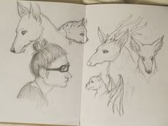 Sketching animals and frens by Maggie Rice
