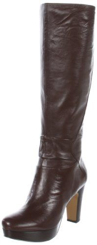 Nine West Women's Purrsha N Knee-High Boot Reviews -        Lengthy and stunning, the Purrsha boot from Nine West is just about purrfect. A mild slouch at the ankle relaxes the crisp silhouette just so while a block heel and platform add enormous lif