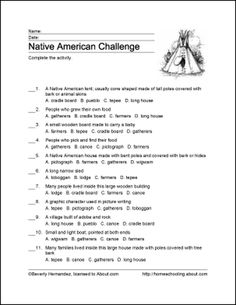 Learn About Native Americans of North America with Free Printables: Challenge - The Pueblo Culture