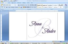 How To Design Your Own Monogram In Microsoft Word  (I just did this for our wedding and it was super easy!)