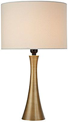 Rivet Needle Curved Brass Table Lamp 21 H With Bulb Amazon