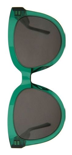 These vibrant green shades with oversized frames add an instant pop of color to the everyday look.