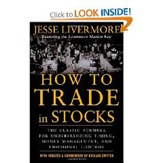 Jesse Livermore - How To Trade in Stocks