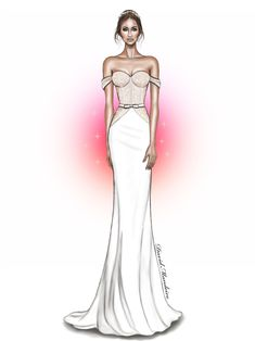 David Mandeiro. Bridal fashion illustration on Artluxe Designs. #artluxedesigns
