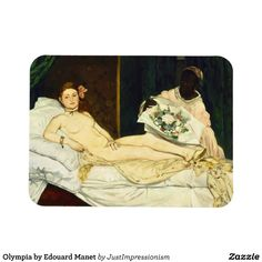 Olympia by Edouard #manet Rectangular Magnets