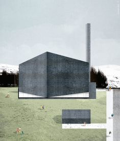 Image 16 of 49 from gallery of 12 Offices that Use Collage to Create Architectural Atmospheres. Project: Mosque in Iceland. Image Courtesy of Viar Estudio Arquitectura Architecture Collage, Architecture Visualization, Architecture Graphics, Religious Architecture, 3d Visualization, Architecture Drawings, Contemporary Architecture, Architecture Posters, Concept Diagram
