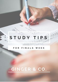 Study Tips for Finals Week college student tips #college #student