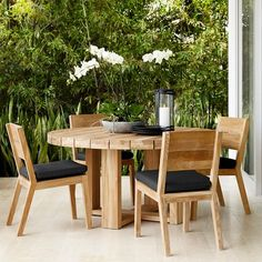 Larnaca Outdoor Round Dining Table #williamssonoma