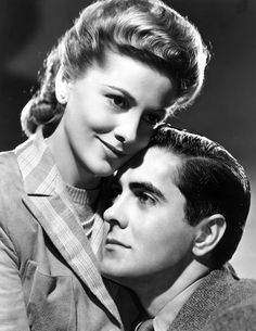 Joan Fontaine and Tyrone Power in This Above All, 1942