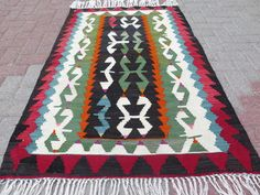 Items similar to Turkish Kilim Rug Antalya Nomad Kelim Turkish Kilim Rug Carpet Rugs on Etsy Turkish Kilim Rugs, Antalya, Bohemian Rug, Antiques, Home Decor, Photos, Antiquities, Antique, Decoration Home