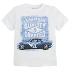 T-shirt de manga curta com serigrafia Brancos - Mayoral