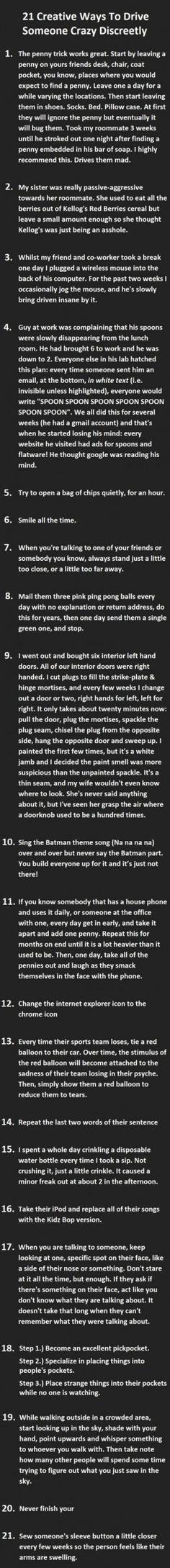 Thanks Satan... (Number 5 was my favorite)