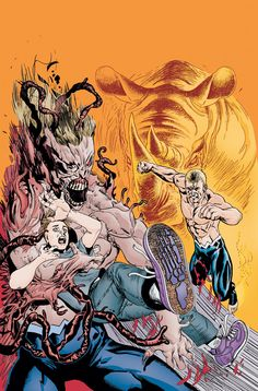 """#ComicReview Animal Man 11 - Well, the last panel promises Swamp Thing. I hope so and it's not just a flashback like the Annual. But next month I think Both comics fate will be decided for me. This started off as a really strong book, but went very """"meh"""" after the first arc."""