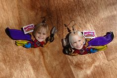 Made these for NBTU. Shrinky dinks, photos and a way to use some expired Box Tops! -kris