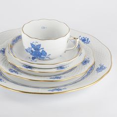 SHOP North America's Best & Widest Selection of Quality Dinnerware, Stemware, Home Decor & Kitchenware. Tea Cup Saucer, Tea Cups, Indian Flowers, Blue Desserts, Blue Dinnerware, Dessert Salads, Flower Basket, Salad Plates, Chinese Style