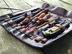 Leather Tool Roll / Handcrafted Utility Bag / Mechanic by JPDco