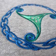 Celtic Throw Lap Blanket Sweatshirt Fleece Trinity Triquatra Knotwork   celtique_creations - Housewares on ArtFire