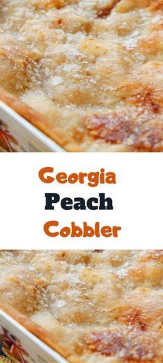 Georgia Peach Cobbler Recipe, Peach Cobbler Pie, Fruit Cobbler, Pear Dessert Recipes, Tart Recipes, Fun Desserts, Sweet Recipes, Cooking Recipes, Peach Dumplings