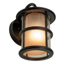 "Amazon.com: Miseno MLIT0693A 10"" Tall Single-Light Outdoor Wall Sconce with Clear Lantern Sh, Espresso: Home Improvement"