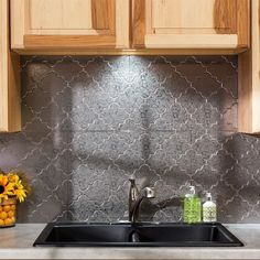 Instead Of Tile Have A Backsplash Of Galvanized Fit Your