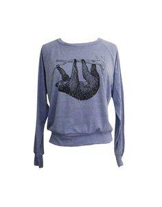SLOTH Raglan Sweater - American Apparel SOFT vintage feel - Available in sizes S, M, L on Etsy, $25.00 @Elizabeth Lockhart Purdy