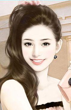 Art of beauty Art Of Beauty, Cute Beauty, Chinese Drawings, Chinese Art, Korean Art, Asian Art, Beautiful Chinese Women, Art Asiatique, Beautiful Fantasy Art