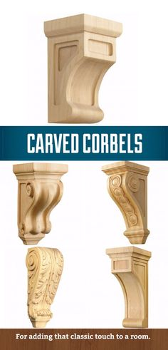 Corbels - Decorative supports that impart impeccable style. http://www.rockler.com/wood/corbels