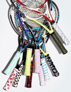 monreal printed tennis grips - would love to find these in the U.S.! These are so cool I sooo want them
