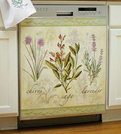 Garden Herbs Kitchen Decorative Dishwasher Cover Collections Etc