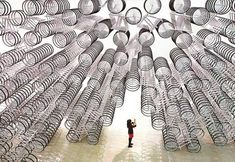 The latest work by Chinese artist Ai Weiwei is composed of 1,000 bicycles, reflecting the country's massive social changes. (File Photo/Cheng Lu-chung)