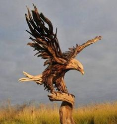 eagle driftwood sculpture by jeffro by webneel