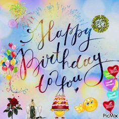 Felice Compleanno Happy Birthday Emoji, Happy Birthday Wishes Photos, Birthday Wishes For Kids, Birthday Wishes Greetings, Happy Birthday Frame, Happy Birthday Wishes Images, Happy Birthday Video, Happy Anniversary Wishes, Birthday Wishes Messages