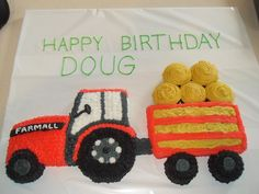 Another cake!  September has been a busy month for us, lots of parties!  My Step Dad loves Farmall tractors, so this was a perfect cake for...