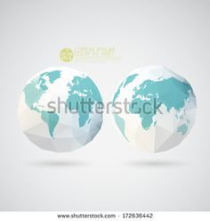 Polygonal world polygonal world polygonal world world map with polygon textured isolated on background vector illustration stock vector gumiabroncs Images