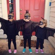 R's halloween costume ...Easy diy bat wings