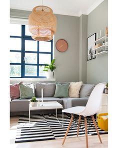 Harmonische Farben im Wohnzimmer im scandi Look