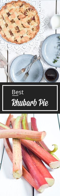 Best Rhubarb Pie is one of my favorite summer recipe! Delicious, flaky crust filled with the best, pink rhubarb! Mhmm... yummy!