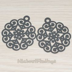 PDT285B // Black Jewelry Paint Coated Round by AllaboutFindings, $2.45
