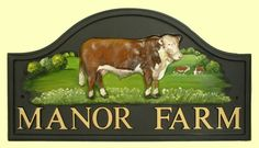 Bull motif shown on x Arch -hand painted house signs House Signs, Shop Signs, Manor Farm, Animal Design, House Painting, Holland, Arch, Shops, Hand Painted